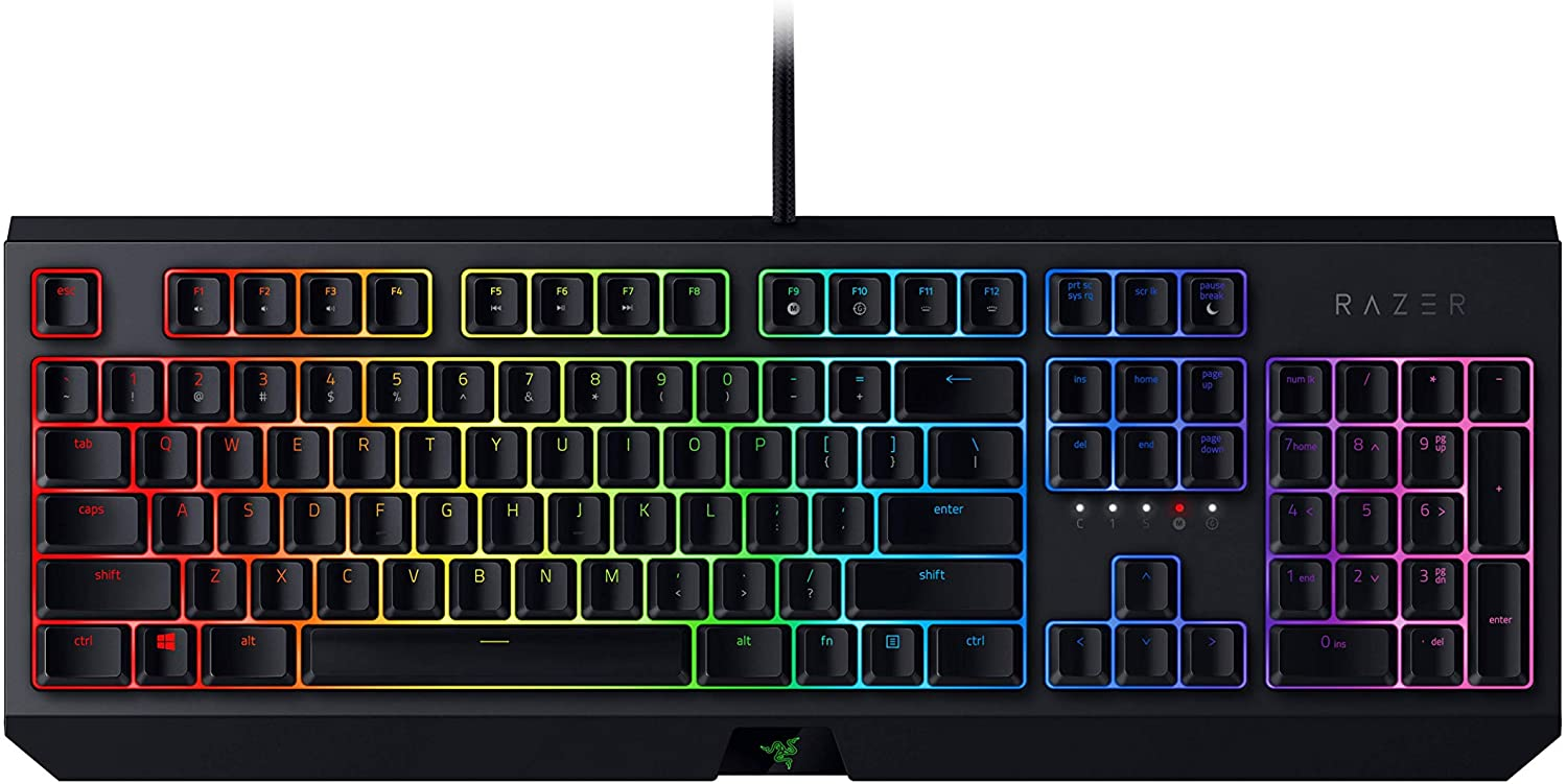 Razer BlackWidow Chroma Green Switch Mechanical Gaming Keyboard, Black, RZ03-02860100-R3M1 $190.00  was $219.95  @ Amazon