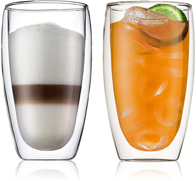 Bodum Insulated Glass Double Wall, Transparent, 4560-10 $22 WAS $34.95 @ Amazon