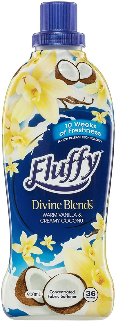 Fluffy Divine Blends Concentrated Fabric Softener Conditioner 900ml $3.50 was $6.99 @Amazon