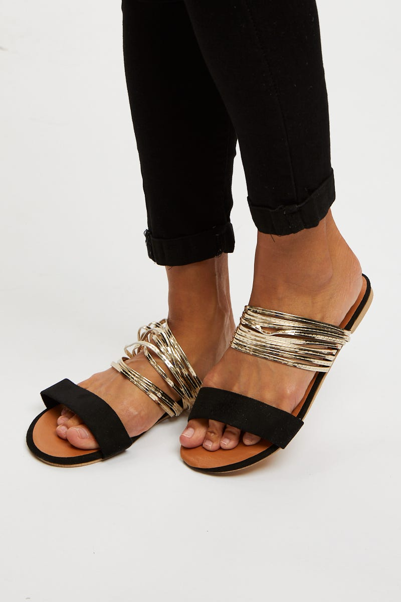 Nyla Rose Multi Strap Slide AU $7.99 @ Ally Fashion