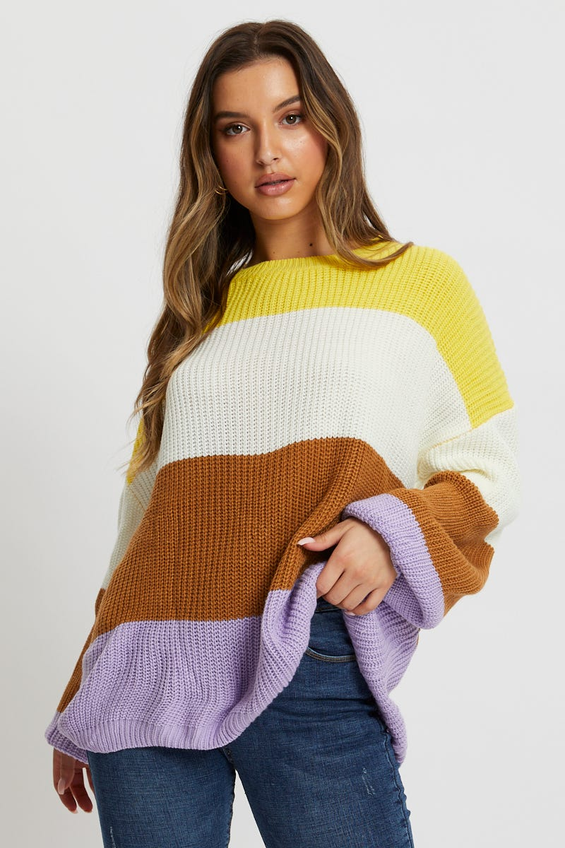 Minx & Moss Colour Block Knit AU $10.99 @ Ally Fashion