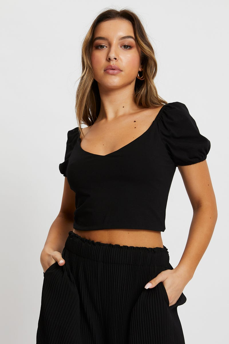 Minx & Moss Short Sleeve Jersey Crop Top AU $3.89 @ Ally Fashion