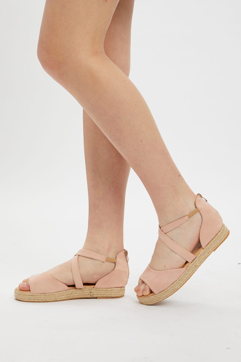 Nyla Rose Cross Strap Espadrille Flatform AU $10.99 @ Ally Fashion
