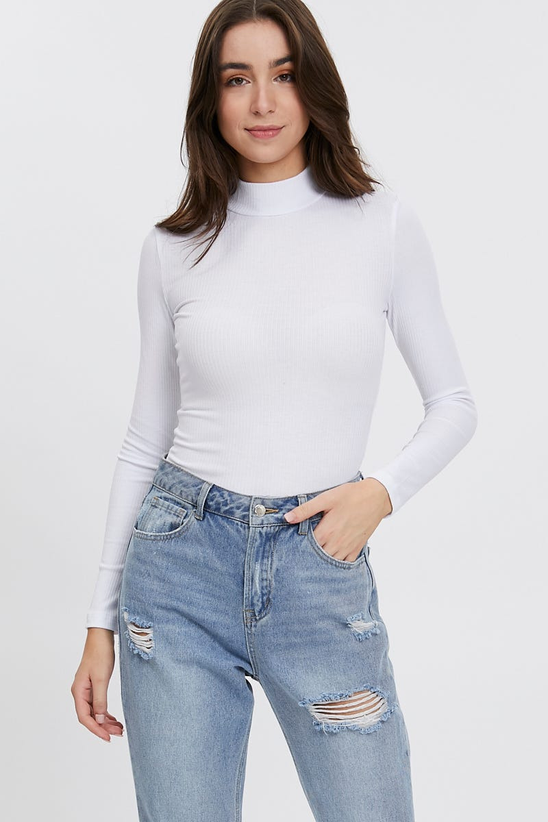Ally Fashion Long Sleeve High Neck Rib Top AU $5.39 @ Ally Fashion