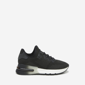 Ash Women's Krush Bis-Knit Lycra Trainers - Black/Gun $203.00 @ Allsole