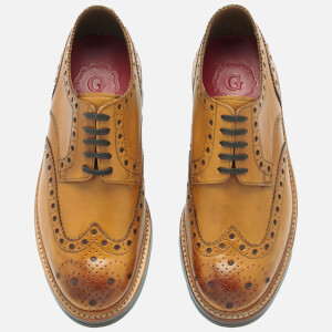 Grenson Men's Archie Leather Brogues - Tan Calf $288.75 @ Allsole