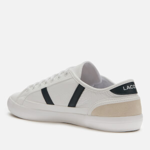 Lacoste Men's Sideline 120 3 Low Top Trainers - White/Off White $73.50 @ Allsole