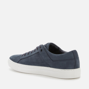 HUGO Men's Futurism Tenn Leather Cupsole Trainers - Dark Blue $210.00 @ Allsole