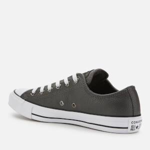 Converse Men's Chuck Taylor All Star Leather Ox Trainers - Carbon Grey/White/Black $63.00 @ Allsole