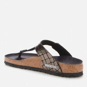 Birkenstock Women's Gizeh Toe-Post Sandals - Gator Gleam Black $61.25 @ Allsole