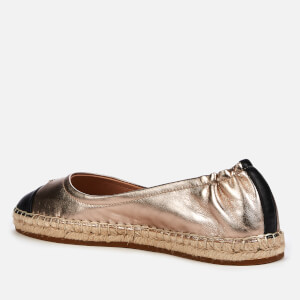 Coach Women's Camryn Metallic Leather Espadrilles - Black/Champagne $96.25 @ Allsole