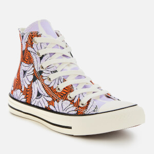 Converse Women's Chuck Taylor All Star Hi-Top Trainers - Egret/Orange/Light Blue $63.00 @ Allsole