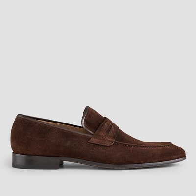 Aquila Simpkin Brown Penny Loafers $199.00 @ Aquila