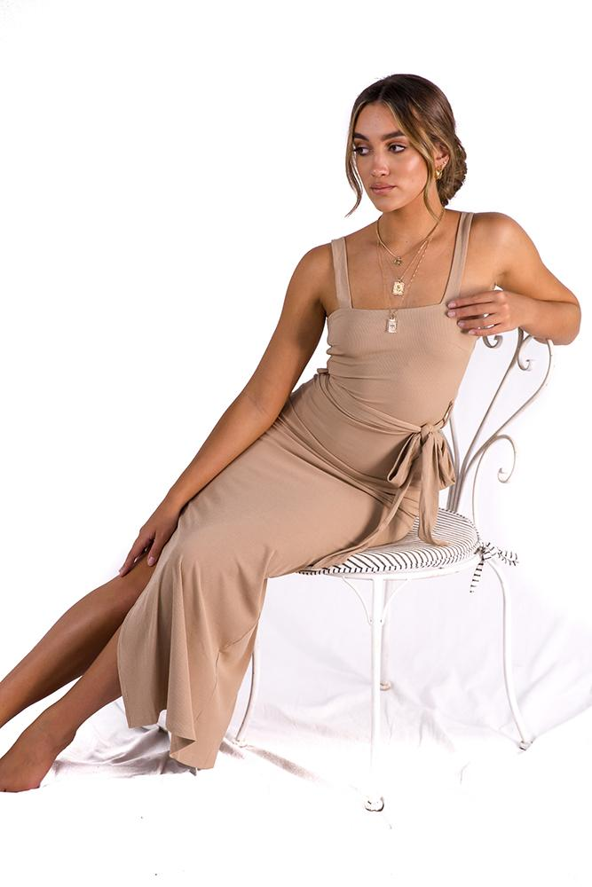 Another Lover Midi Dress Nude $59.00 @ ark and arrow
