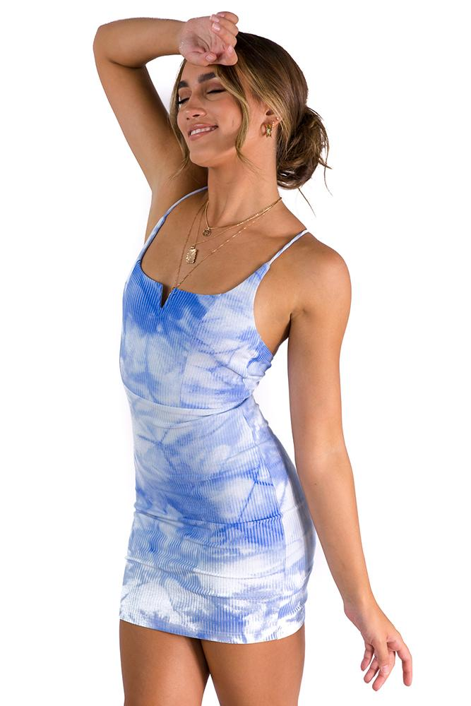 Flow On Dress blue $49.00 @ ark and arrow