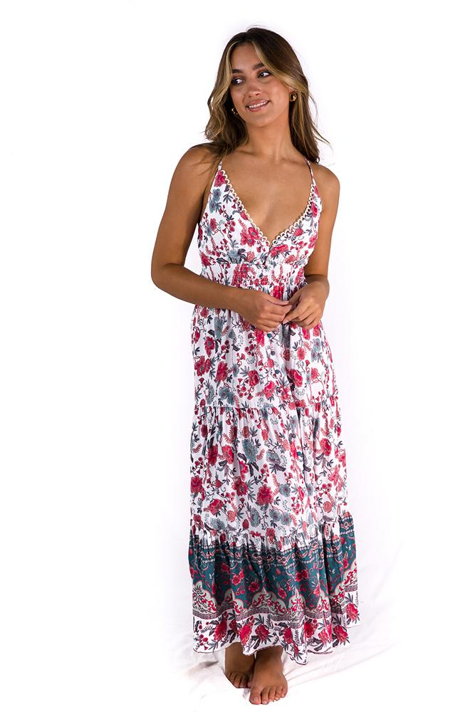 Made My Day Maxi Dress Sage/Blush $79.00 @ ark and arrow