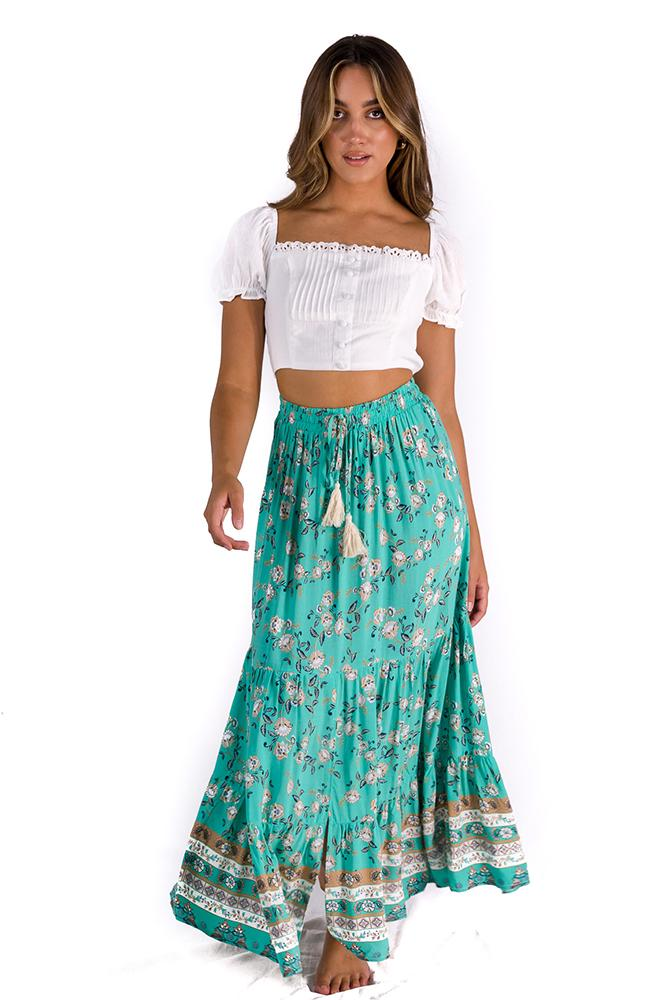Back To The Coast Maxi Skirt $59.00 @ ark and arrow