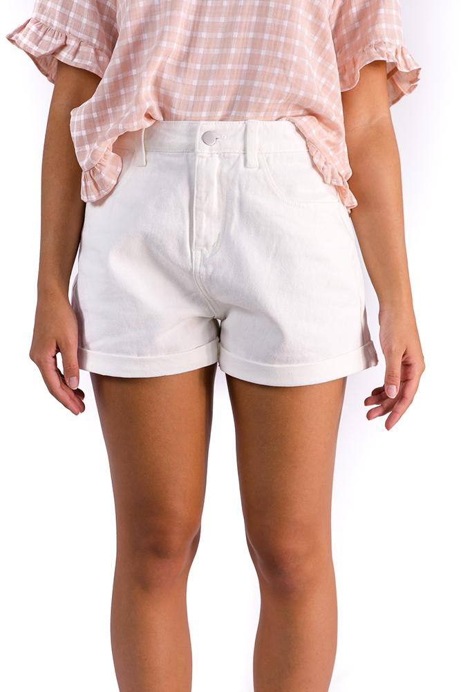 Bronte Shorts White $49.00 @ ark and arrow