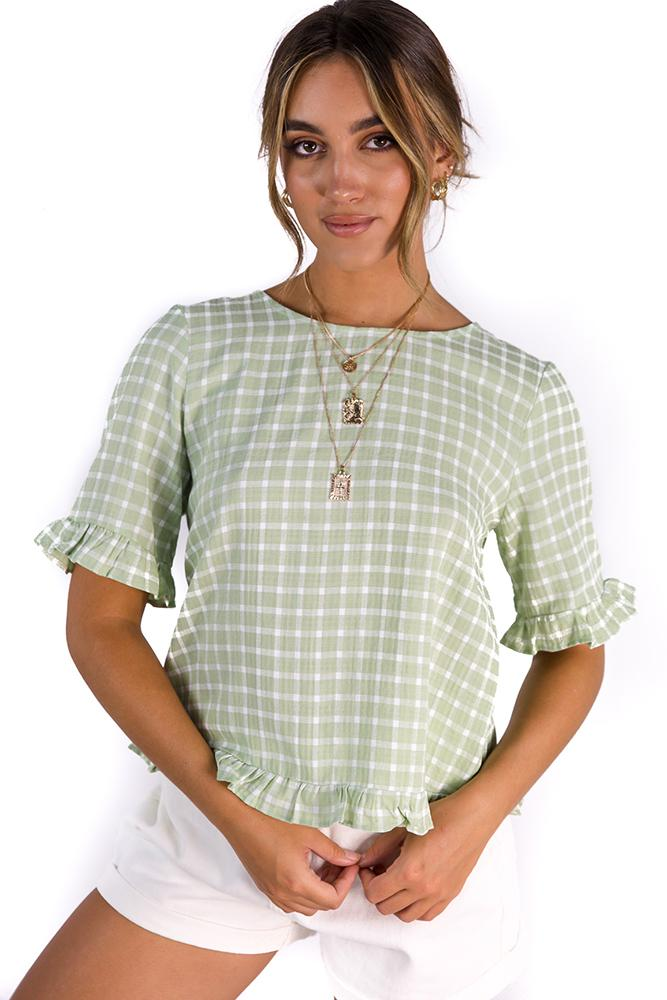 French Girl Top Green $39.00 @ ark and arrow