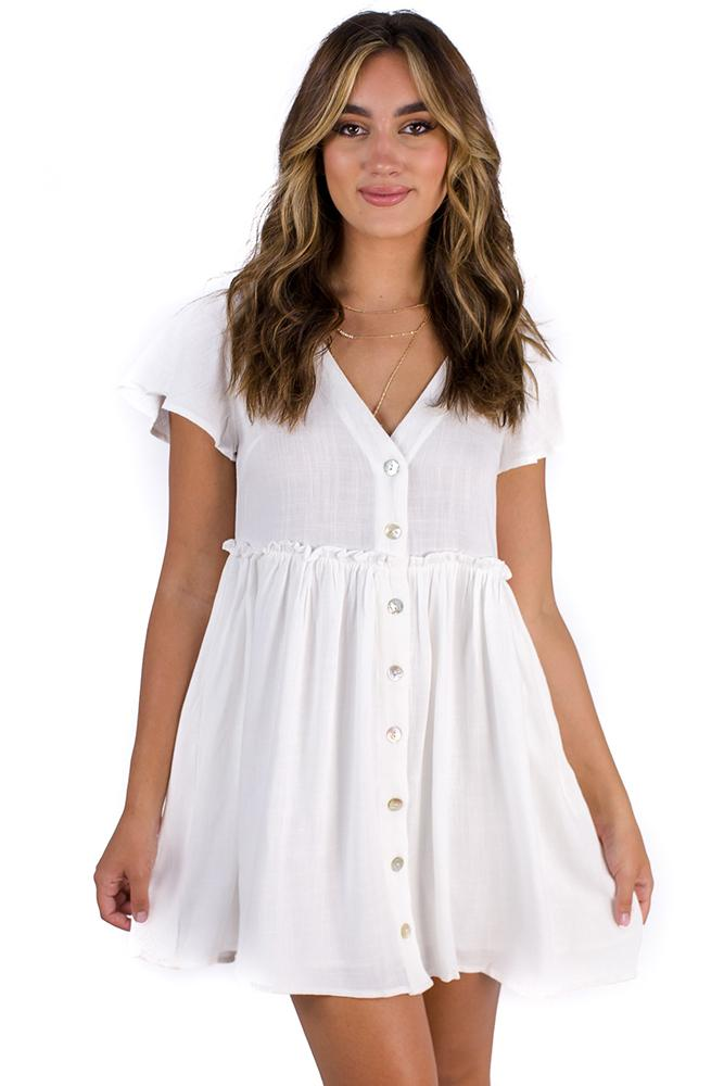 Angels Walk Dress White $49.00 @ ark and arrow