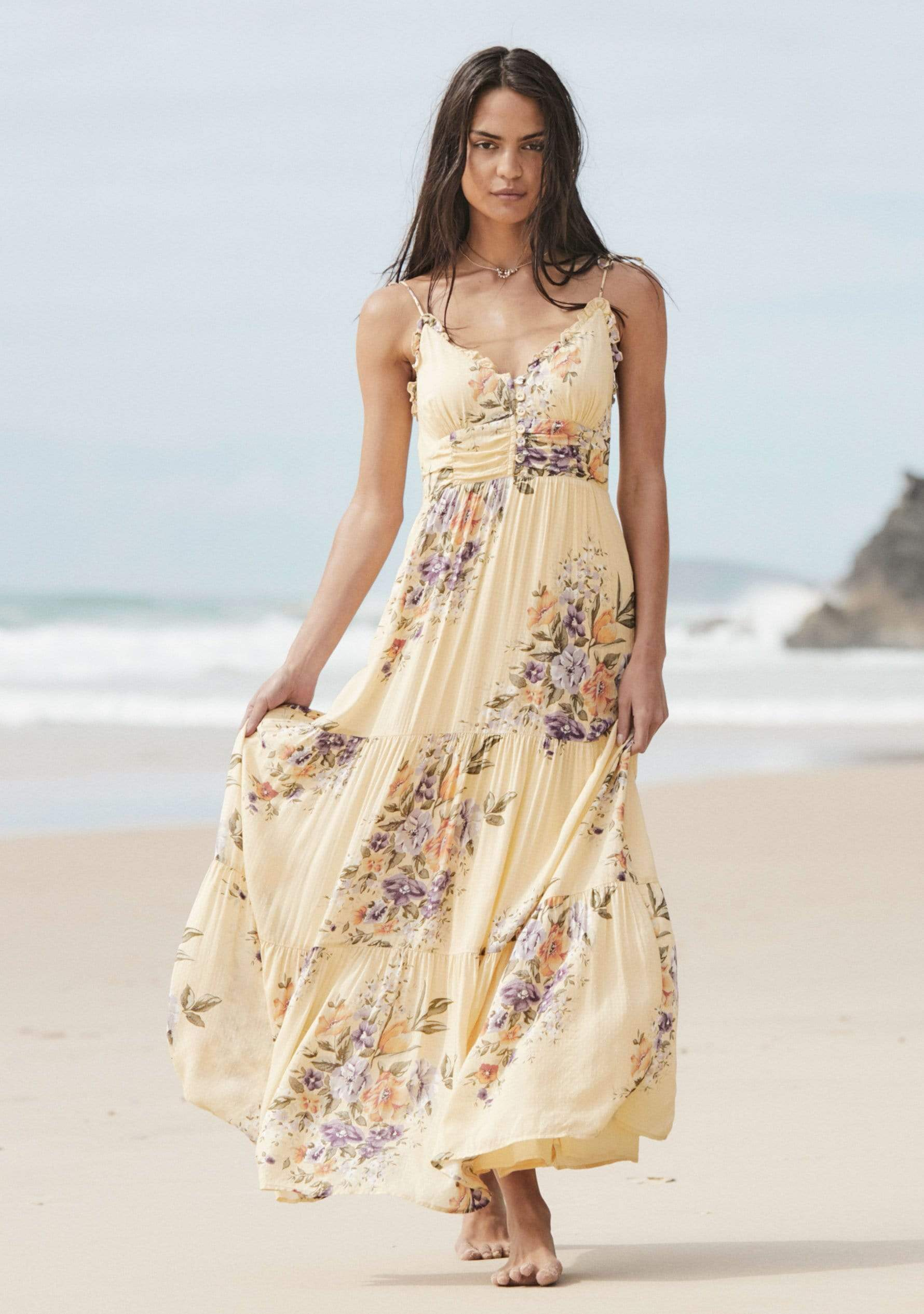 Leonie Caroline Maxi Dress Lemon AUD$149 @ Auguste