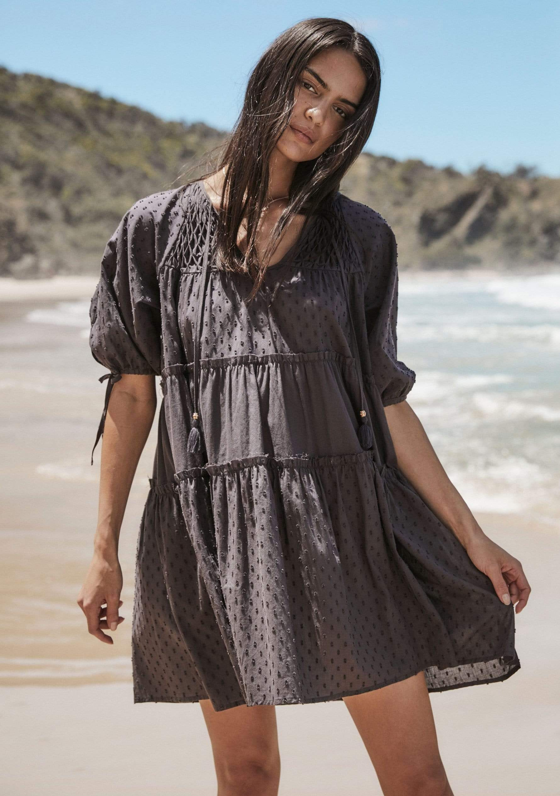 Scott Mini Dress Charcoal AUD$129 @ Auguste