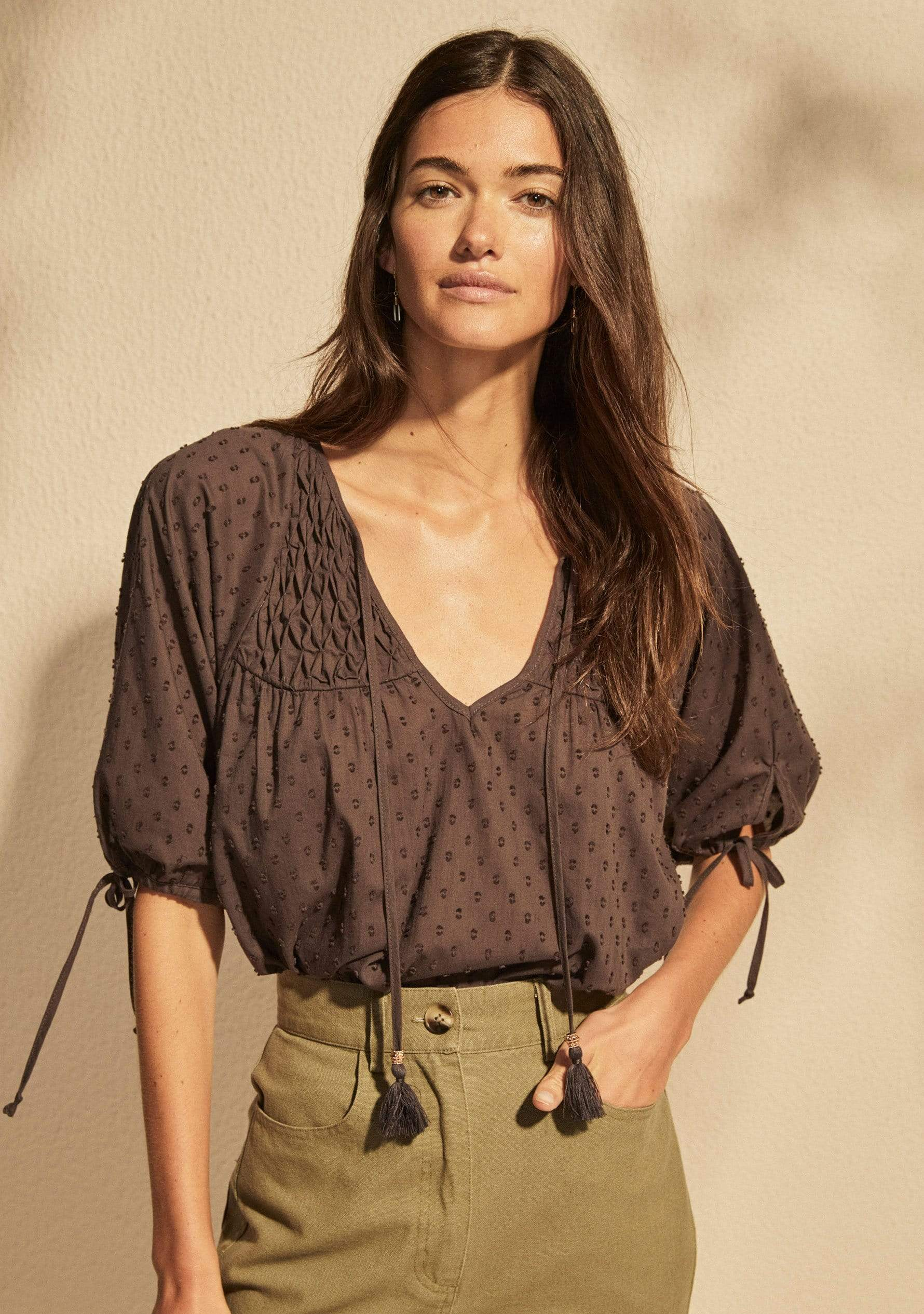 Scott Blouse Charcoal AUD$119 @ Auguste