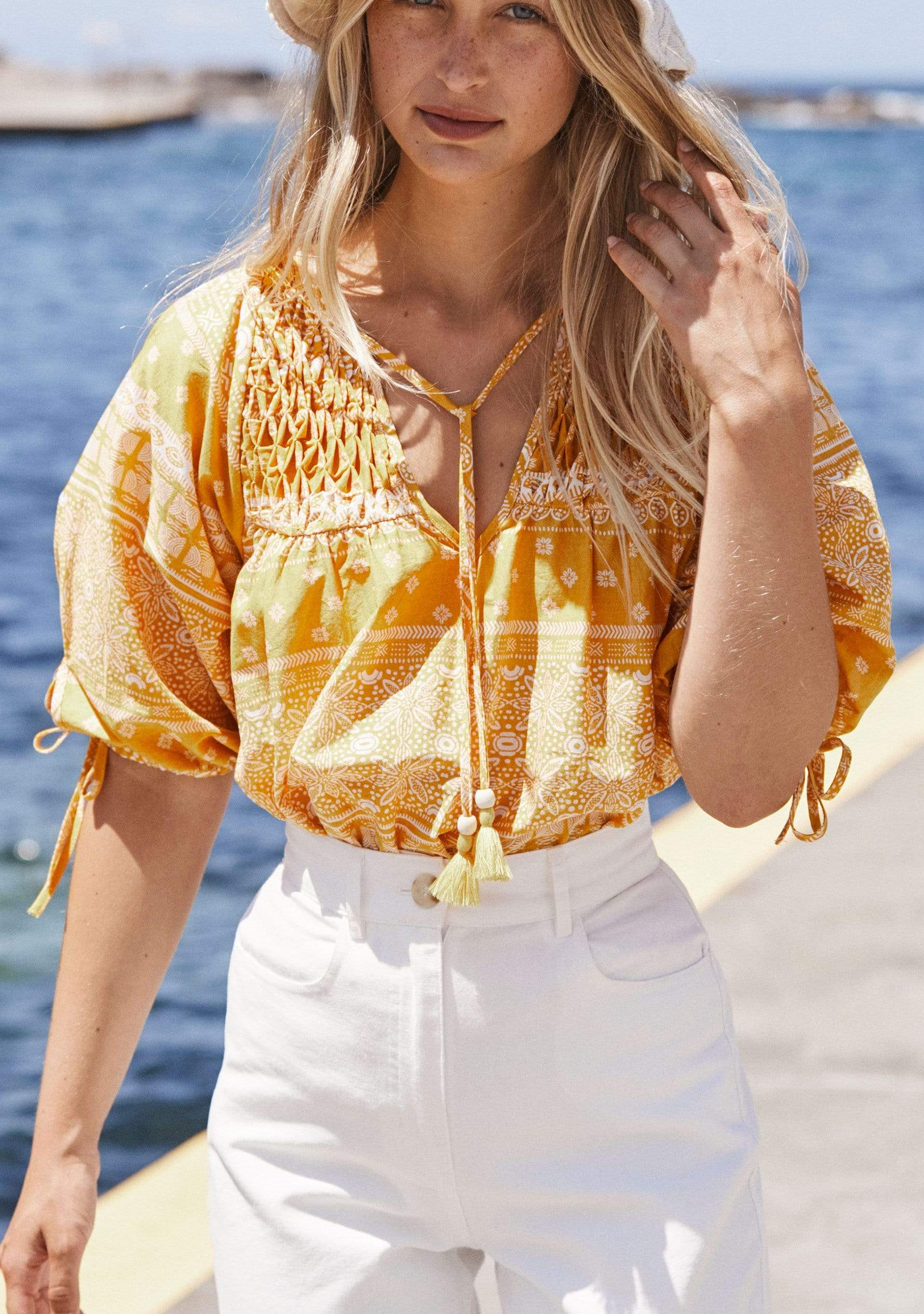 Enzo Scott Blouse Yellow AUD$119 @ Auguste