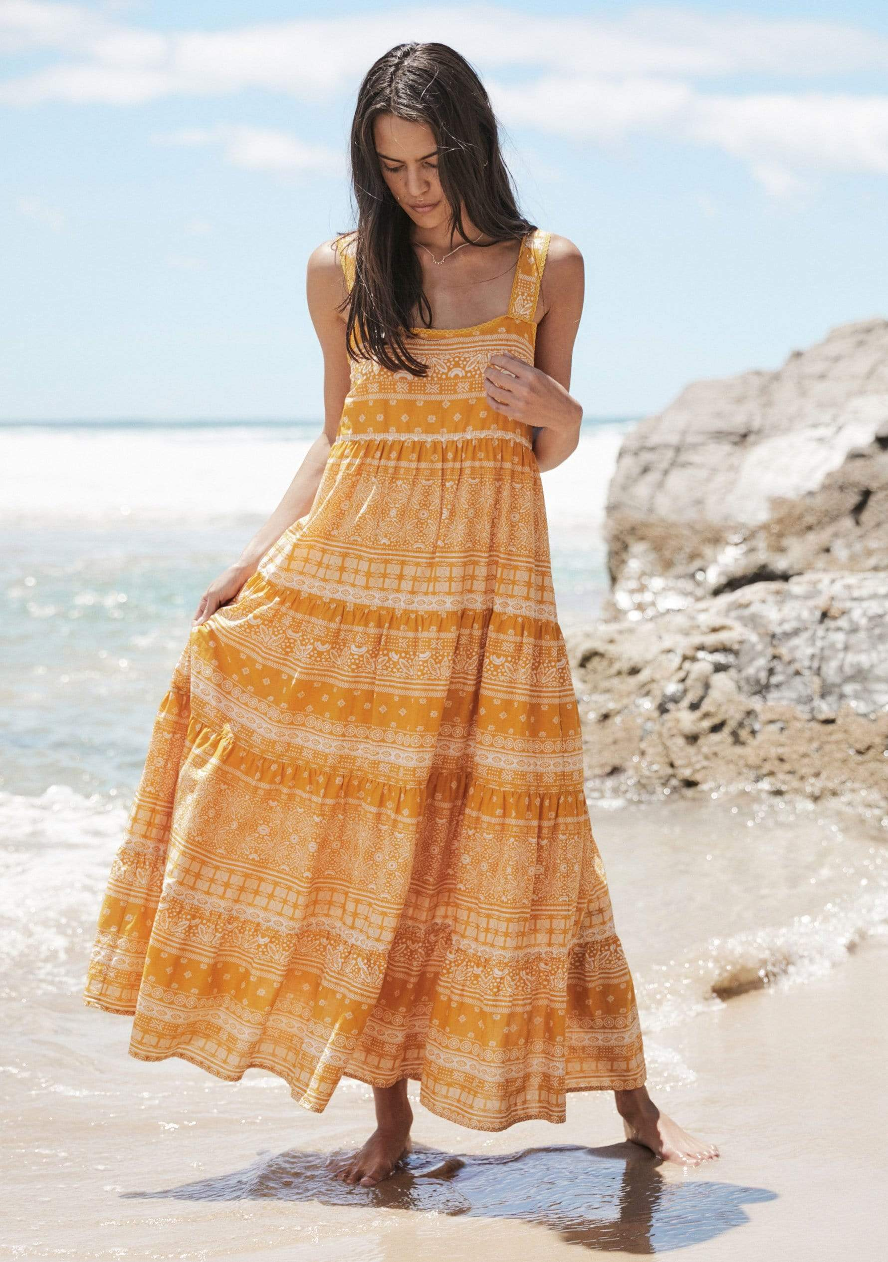 Enzo Mabel Maxi Dress Yellow AUD$149 @ Auguste