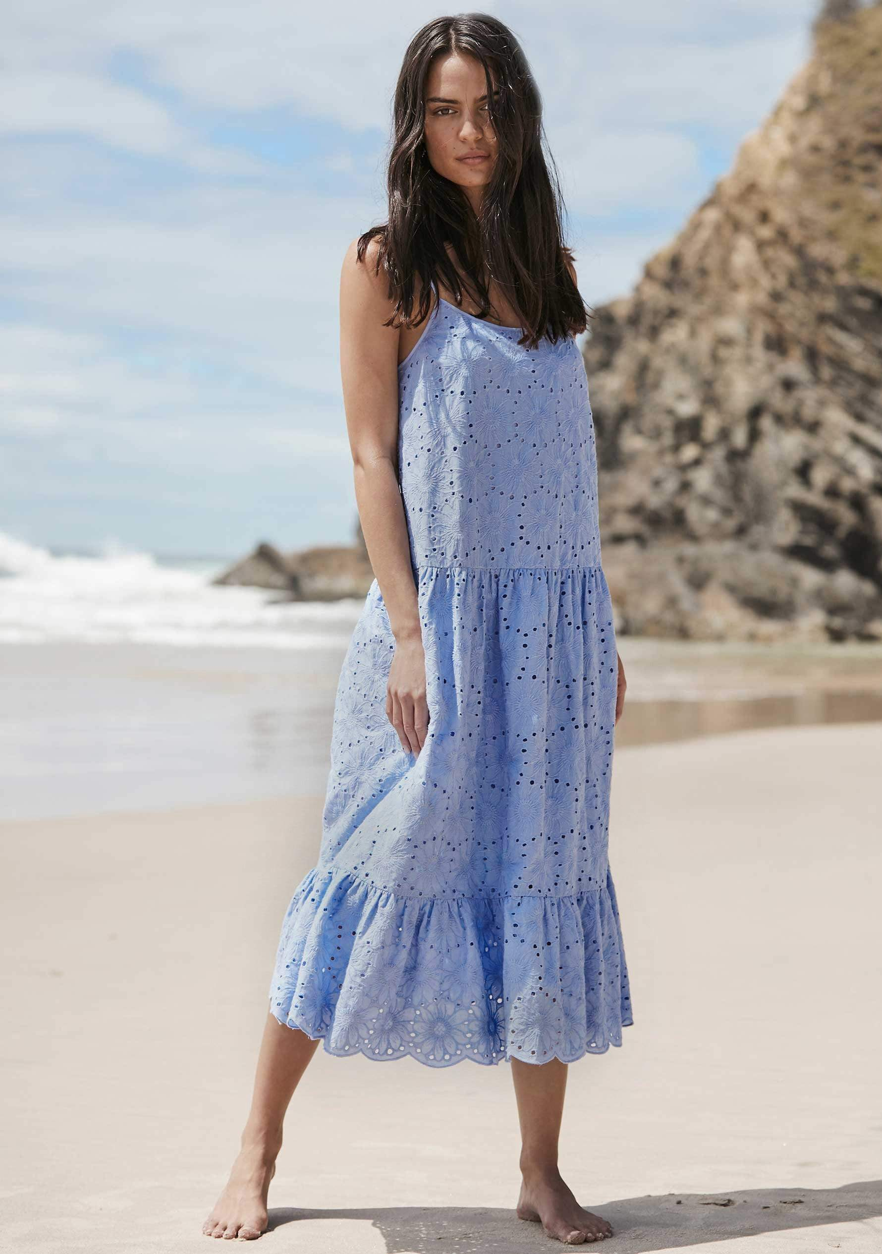 Alessia Midi Dress Cornflower Blue AUD$159 @ Auguste