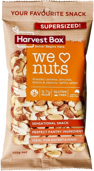 Harvest Box We Love Nuts Snack Value Bag $5.05 @ Aussie Health Products