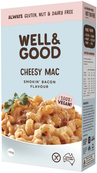 Well & Good Cheesy Mac Smokin' Bacon Flavour $4.65 @ Aussie Health Products