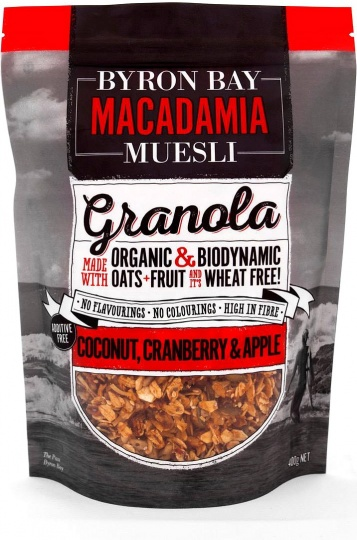 Byron Bay Macadamia Muesli Granola Coconut, Cranberry & Apple $10.85 @ Aussie Health Products