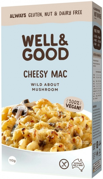 Well & Good Cheesy Mac Wild About Mushroom $4.65 @ Aussie Health Products