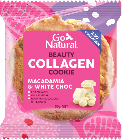 Go Natural Beauty Collagen Cookie Macdamia & White Choc $25.65 @ Aussie Health Products