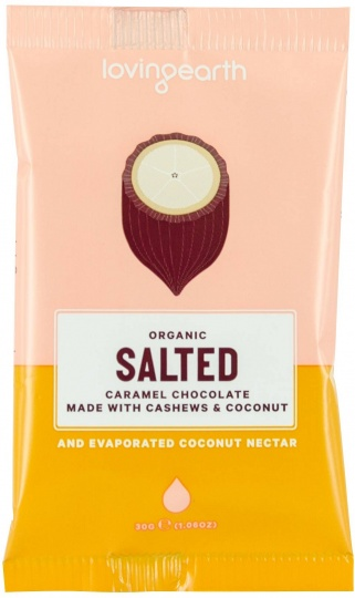 Loving Earth Organic Salted Caramel Chocolate $38.10 @ Aussie Health Products