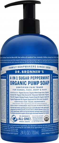Dr Bronner's Organic Pump Soap Peppermint $30.60 @ Aussie Health Products