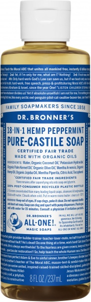 Dr Bronner's Pure Castile Liquid Soap Peppermint $12.00 @ Aussie Health Products