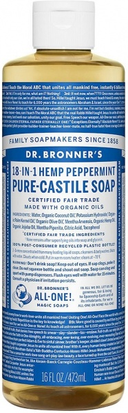 Dr Bronner's Pure Castile Liquid Soap Peppermint $18.50 @ Aussie Health Products