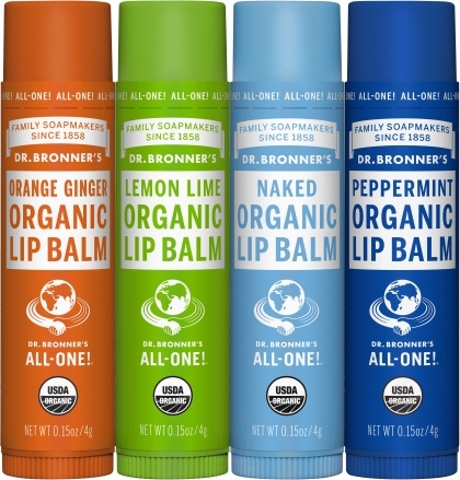 Dr Bronner's Lip Balm (Mixed 12x4 Varietys) $219.00 @ Aussie Health Products