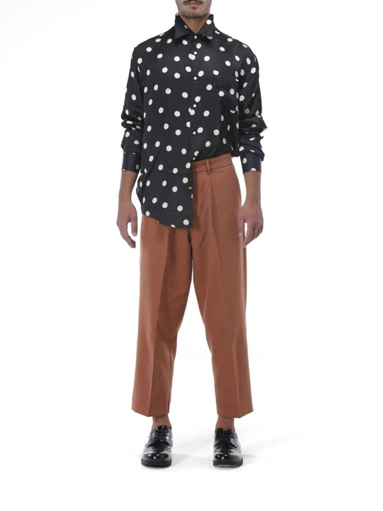 Polka dot shirt sleeves buttons front A$303.91 @ Atterley