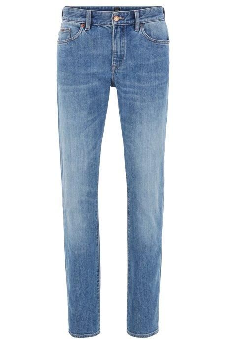 Hugo Boss - Delaware3-1 - Slim-fit Jeans in Bright-Blue Stretch Denim A$128.34 @ Atterley