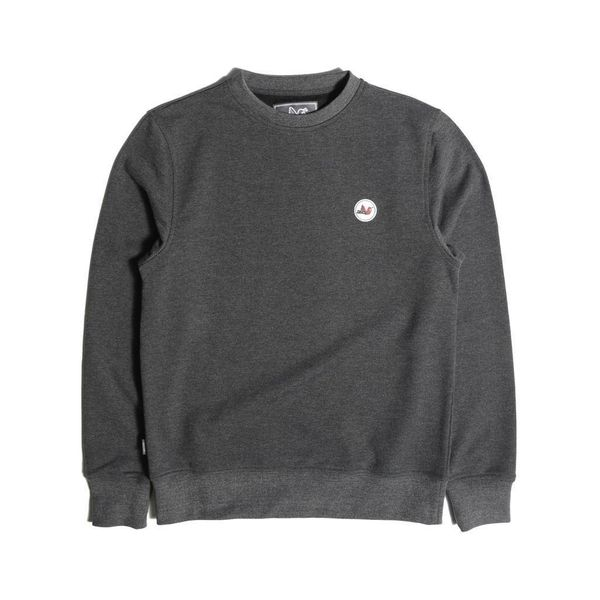 Peaceful Hooligan Tri Colour Badge Crew Sweatshirt - Black A$51.15 @ Atterley