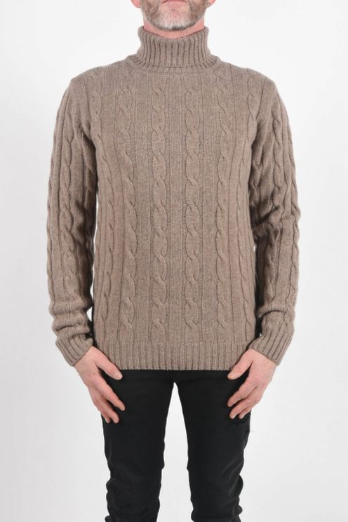 Daniele Fiesoli Cable Roll Neck knit Beige Colour: Beige, A$158.10 @ Atterley