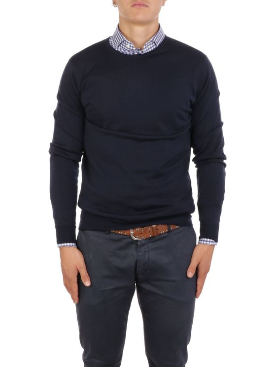 JOHN SMEDLEY Men's Knitwear LUNDY MIDNIGHT A$321.80 @ Atterley