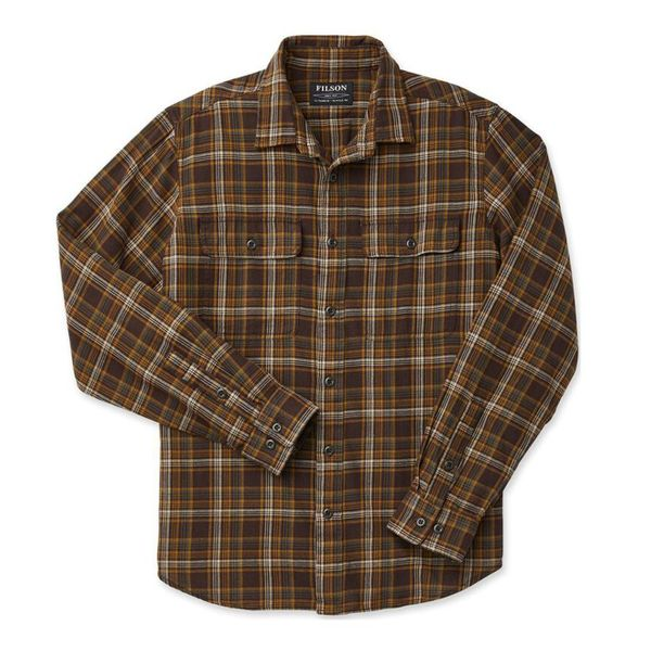 Filson Scout Shirt Brown / Tan / Otter Green Plaid A$121.98 @ Atterley