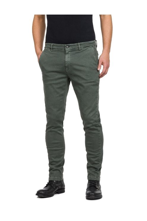 Replay Hyperflex Slim Fit Chino Khaki Colour: Khaki, A$185.98 @ Atterley