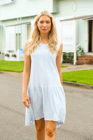 Cle Organics Hailey Dress in Ice Blue $48.97 @ Adrift