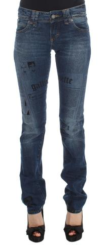 Galliano Blue Wash Cotton Blend Slim Fit Bootcut Jeans $258 AUD @ Azura Runway