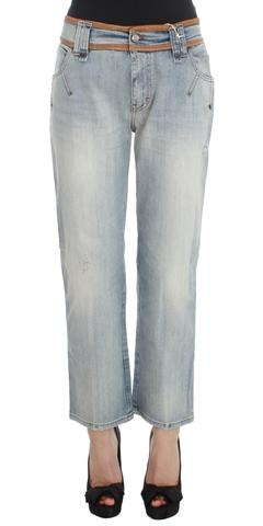 Galliano Blue Wash Cotton Boyfriend Fit Cropped Jeans $258 AUD @ Azura Runway